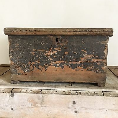 19th Century Pine Painted Storage Blanket  Box, Chest, Trunk