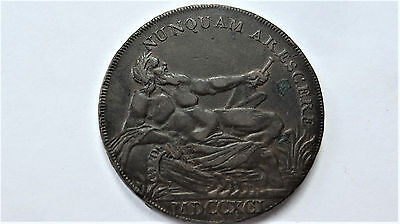 Glasgow Scotland  Copper Halfpenny 1791    River God