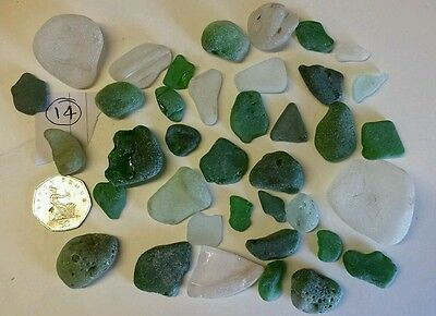 200g sea tumbled beach glass large chunky arts and crafts jewellery making