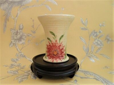 E Radford Fluted Posy Vase Hand Painted Signed Vintage Pottery