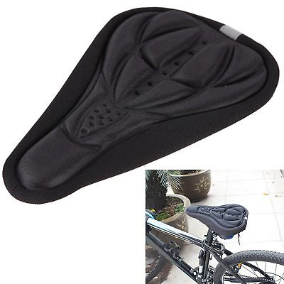 Bicycle 3D Breathable Padded Silicone Cushion · Bike seat · BLACK