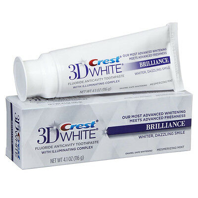 Crest 3D White Brilliance Teeth Whitening Toothpaste 116g / 4.1oz Full Size Tube