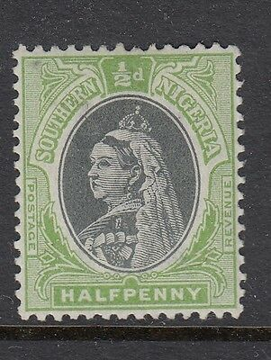 Southern Nigeria Stamps. QV 1902 ½d Black & Green. SG1-lightly mounted mint