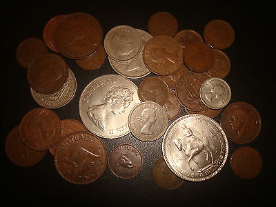 Job Lot,Bulk Old British and Colonial Coins, Some Possibly Silver