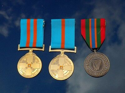 Irish Civil Defence Medals with boxes