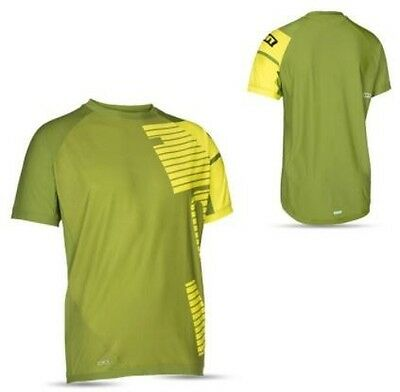 Ion Mens Large Short Sleeved T-Shirt Cycling Jersey Straight Olive RRP £51.95