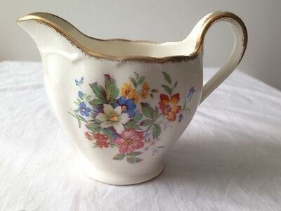 Vintage Grindley Cream Petal Milk Jug