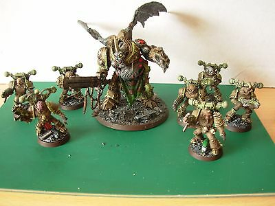 40K Chaos Space Marines Death Guard Squad & Nurgle  Daemon Prince Painted Rare