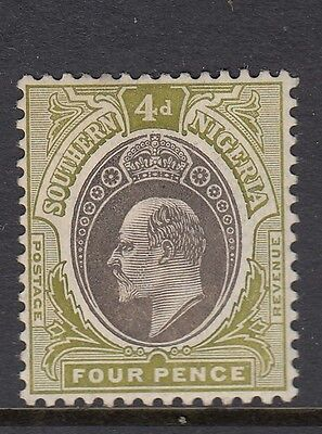 SG26 Southern nigeria 4d Grey black & pale green very lightly mounted mint