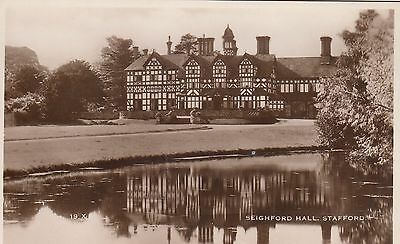 Seighford Hall, Country House, Staffordshire. Rp, C1920.