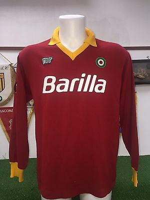 Maglia Roma Ennerre Baril Match Worn  Shirt Jersey Maillot Trikot Calcio Serie A