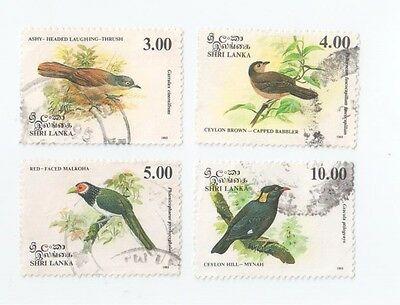 Sri Lanka 1993 Native Birds Complete Set Used