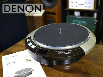 Beautiful DENON DP-75 Turntable with Instruction Manual / Transport Screw F/S