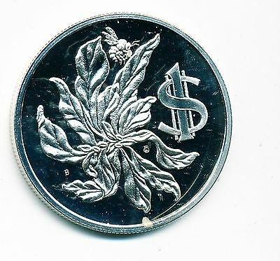 1972 Cayman Islands Proof $1 Silver Coin (Flamboyant), Km#6