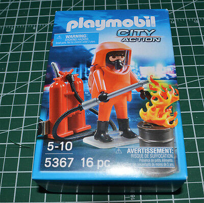 PLAYMOBIL Special Forces Fire Fighter #5367 New in box