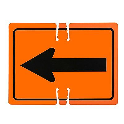 "RK Traffic Cone Sign 21 Legend ""Left Arrow"", 18"" Width x 14"" Height"