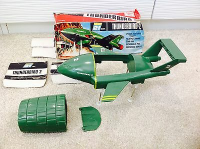 JR 21 TOY THUNDERBIRD 2 IN BOX VERY RARE 1960's vintage made in Hong Kong