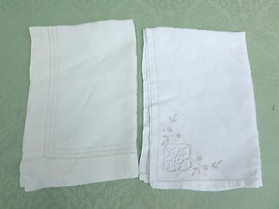 Two Antique/vintage Linen Tray Cloths