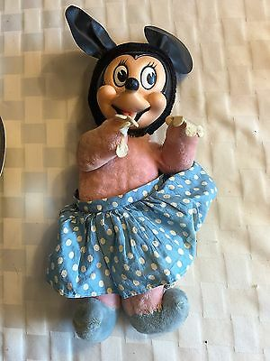 Antique Vintage Minnie Mouse Plush Toy By Walt Disney Productions Woolikin