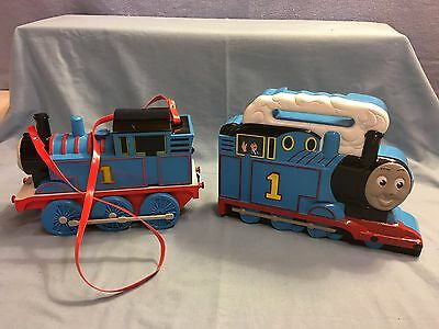 Thomas The Tank Train Engine Carry Case Lot with 8 Cars