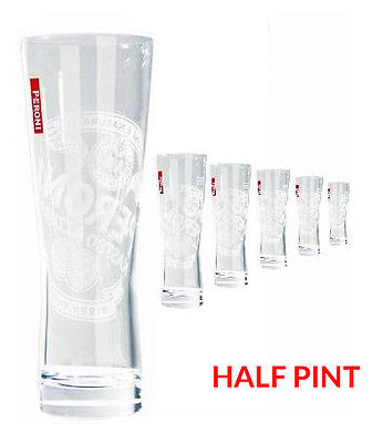 Peroni Half Pint Glasses - Box of 6. Brand new.