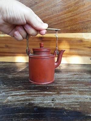 Chinese Yixing Pottery Teapot Signed Rare Antique Red Clay Tea pot