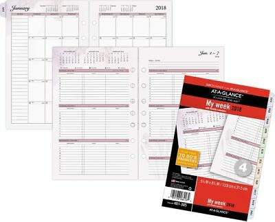 At-A-Glance Day Runner Nature 3-in-1 Weekly Planner Refill Size 4 - Loose-Leaf