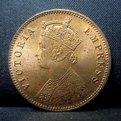 1889 India 1/4 Anna ✪ Bu Uncirculated ✪ Km-486 Unc 1/4A L@@k Now Red Rd◢Trusted◣