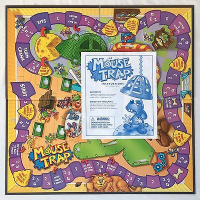 Mouse Trap GAME BOARD and INSTRUCTIONS Replacement Pieces Hasbro Parts 2005