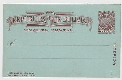 Bolivia OLD Postal Card Stationery #3
