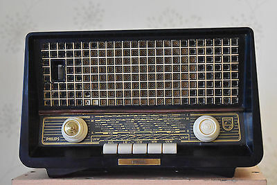 Philips Philetta Spezial B2D14U Röhrenradio Tube Radio Made in Germany 독일 튜브 라디