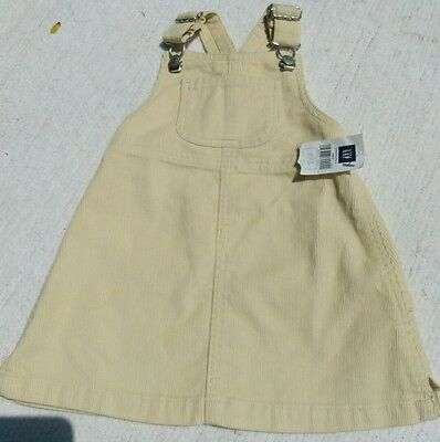 NEW NWT Infant baby girls clothing 12-18 months overalls Dress BABYGAP