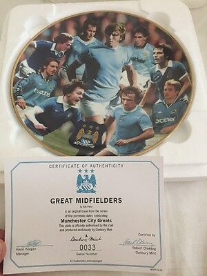 Manchester City Danbury Mint Collectors Plate Man City Mcfc Great Midfielders