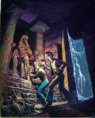 Original Artwork of the Hardy Boys. Unknown artist (attributed to George Wilson)