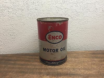 Vintage ENCO (Humble) Motor Oil quart can-SAE 40-FULL!