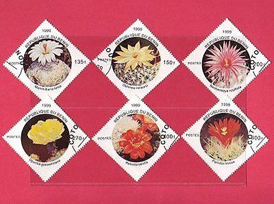 Benin Cactus Flowers - Diamond Shape Stamps - Neat Circular Date Stamp Used