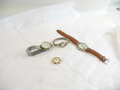 Watches lot of 4 for parts or repair