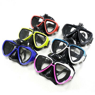 Camera Mount Diving Mask Scuba Snorkel Swimming Goggles Glasses for GoPro Camera