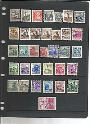 Austria 1957 full mint set with variety