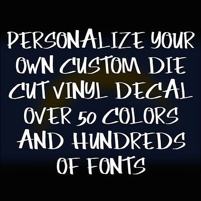 Make Your Own Custom Die Cut Vinyl Decal Sticker Car Window Wall - Make your own decal for laptop