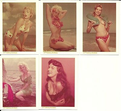 Bettie Page: Bunny Yeager Girls of The 50's Insert Card set BY1 - BY5  1994