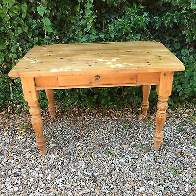 Reclaimed Pine Table With Drawer