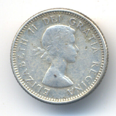 1960 CANADIAN Silver Dime 10 Ten Cent One Coin