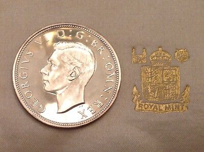 - 1937 Great Britain George VI Silver 1/2 One Half Crown  - Choice Proof