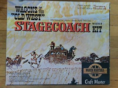 Vintage Craft Master Wagons of the Old West Stagecoach