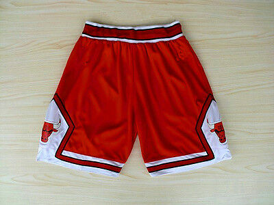Chicago Bulls Vintage Basketball Game Shorts NBA Men's NWT Stitched Red / White
