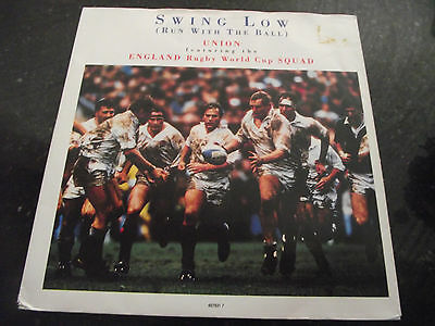 Mint- Union & England Rugby World Cup Squad Swing Low 7 Inch Single 45 Listen
