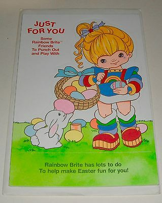 Vintage Easter Paper Doll Greeting Card Hallmark Rainbow Brite Friends