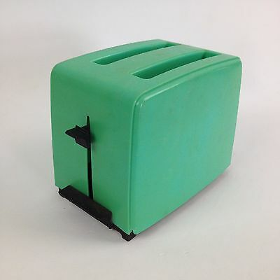 VTG 50s 60s Childrens Plastic Teal Aqua Sea Foam Pop Up Toy Toaster Toastmaster