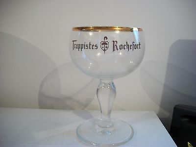Trappistes Rochefort-Gold Rimmed Beer Glass